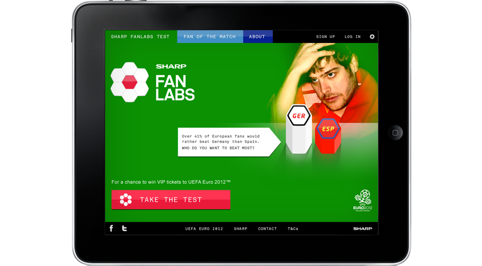 Sharp Fanlabs app